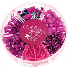 Office Set Candy Colours Raspberry
