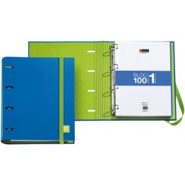 Archivador Candy Tag Azul + Bloc Notebook