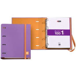 Archivador Candy Tag Lila + Bloc Notebook