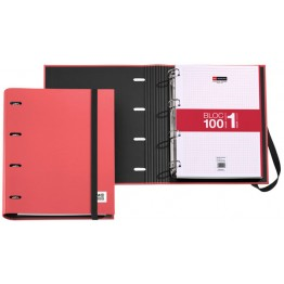 Archivador Candy Tag Rojo + Bloc Notebook