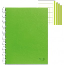 Cuaderno A4  Candy Colours Apple Green 120 Hojas