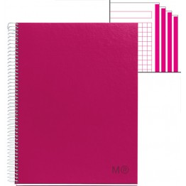 Cuaderno A4  Candy Colours Raspberry 120 Hojas