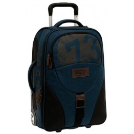 Trolley de Cabina Soft Pepe Jeans Worn 73 Blue 50 cm