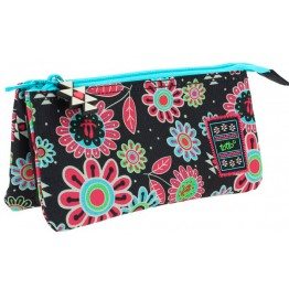 Estuche Totto  Patchworky Triple