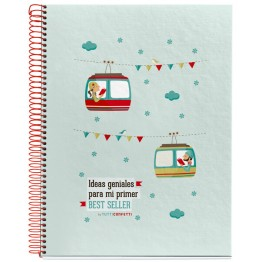 Cuaderno A4  Tutti Confetti Bestseller 120 Hojas