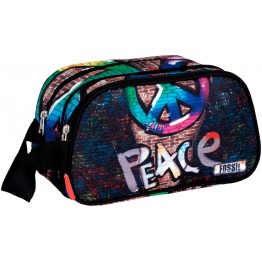 Neceser Fossil Peace Doble