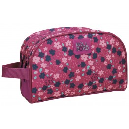 Neceser Adaptable Roll Road Flores Fucsia