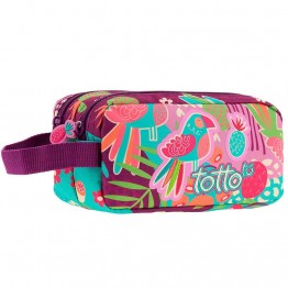 Estuche Totto Tropicalita Doble