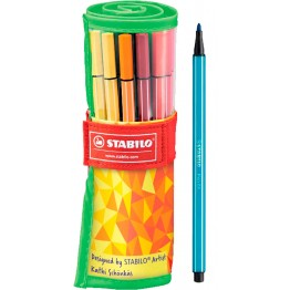 Stabilo Pen 68 Rollerset Fan Edition 25 Colores