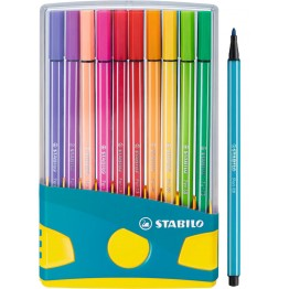 Stabilo Pen 68 ColorParade Turquesa 20 Colores