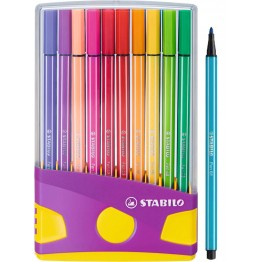 Stabilo Pen 68 ColorParade Lila 20 Colores