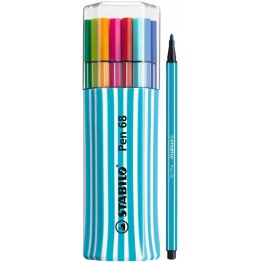 Stabilo Pen 68 Single Pack Blue 15 Colores