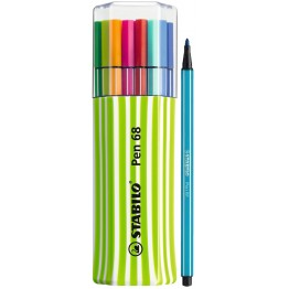 Stabilo Pen 68 Single Pack Green 15 Colores