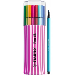 Stabilo Pen 68 Single Pack Pink 15 Colores