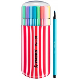 Stabilo Pen 68 Zebrui Cereza 20 Colores