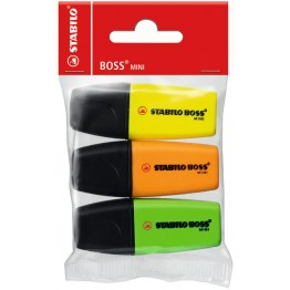 Marcadores  Stabilo Boss Mini 3 Colores