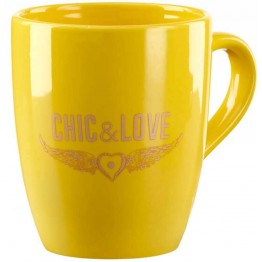 Taza Chic & Love Yellow