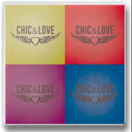 Set de 4 Gomas de Borrar Chic & Love