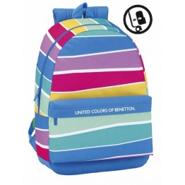 Mochila Benetton Stripes Adaptable