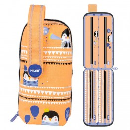 Estuche Milan Party Time Orange Handly Multipencilcase 31 Piezas