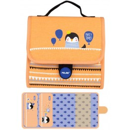 Estuche Milan Party Time Orange Multipencilcase 19 Piezas