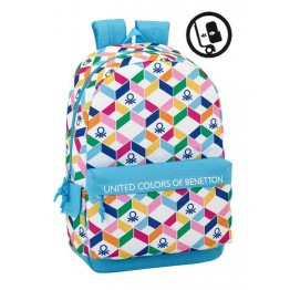 Mochila Benetton Geometric Adaptable