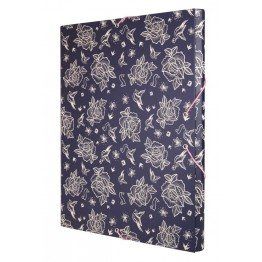 Carpeta Solapas Milan Flowers Blue