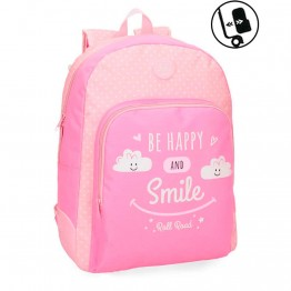 Mochila Reforzada Roll Road Happy Pink