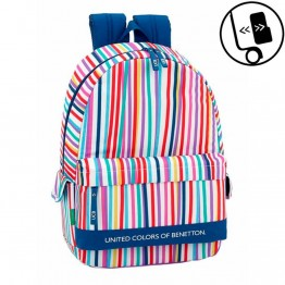 Mochila Benetton Color Lines Adaptable