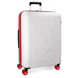 Maleta Mickey Colored White 68 cm