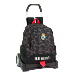 Mochila Real Madrid Black con Carro Evolution