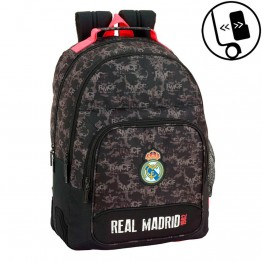 Mochila Real Madrid Black Doble Reforzada