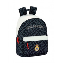 Mochila Real Madrid Black & White Porta Ordenador