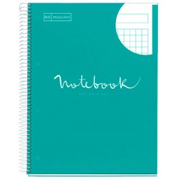 Cuaderno A4 Notebook 1 Emotions Turquesa 80 Hojas