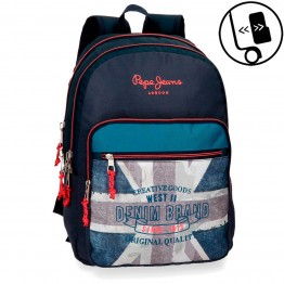 Mochila Doble Pepe Jeans Ian Adaptable