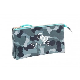 Estuche Hello Kitty Camo Triple