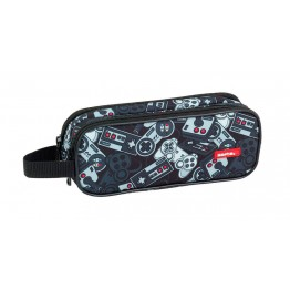 Estuche Safta Gamer Black Doble