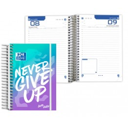 Agenda Escolar 8º DP Oxford Never Give Up Blue