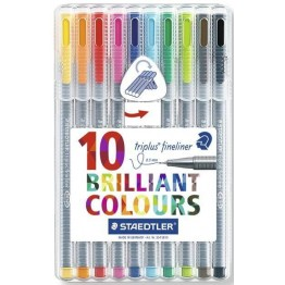Rotuladores Staedtler Triplus Fineliner 10 Unidades