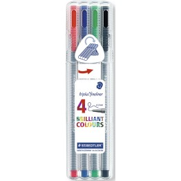 Rotuladores Staedtler Triplus Fineliner 4 Unidades