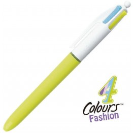 Bolígrafo Bic 4 Colores Fashion Colours